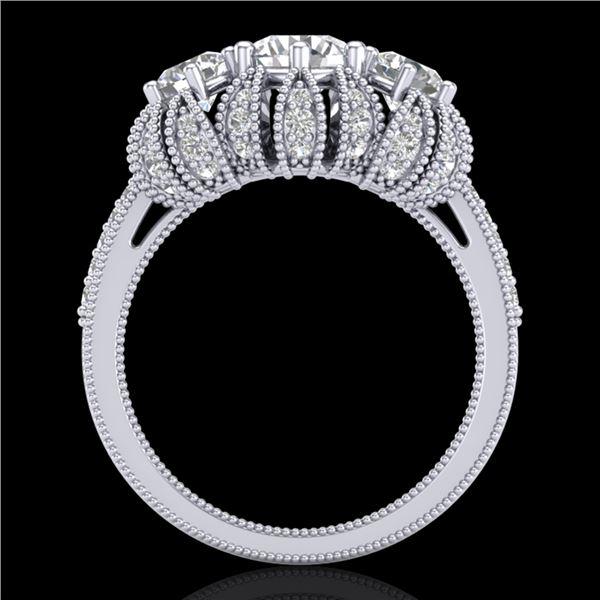 2.26 ctw VS/SI Diamond Art Deco Micro Pave Ring 18k White Gold - REF-345Y5X