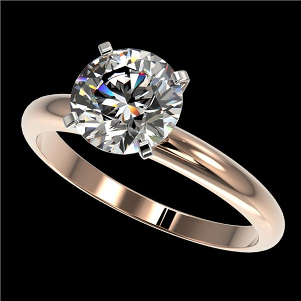 2 ctw Certified Quality Diamond Engagment Ring 10k Rose Gold - REF-407G8W