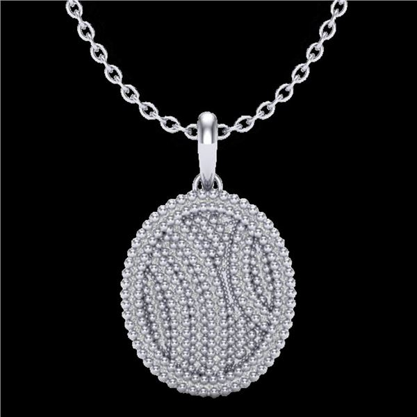 1 ctw Micro Pave VS/SI Diamond Certified Necklace 14k White Gold - REF-90G9W