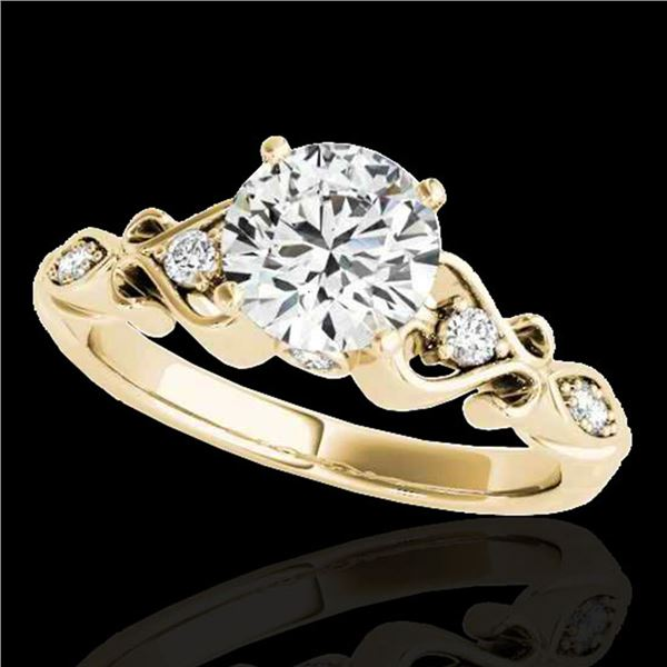 1.15 ctw Certified Diamond Solitaire Antique Ring 10k Yellow Gold - REF-190W9H