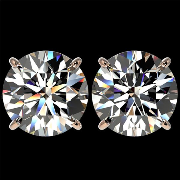 5 ctw Certified Quality Diamond Stud Earrings 10k Rose Gold - REF-1212F8M