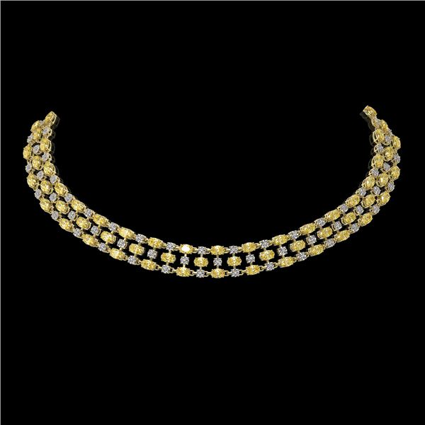 51.17 ctw Fancy Citrine & Diamond Necklace 10K Yellow Gold - REF-527M3G