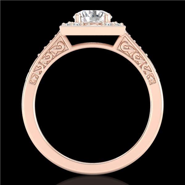 1.1 ctw VS/SI Diamond Art Deco Ring 18k Rose Gold - REF-227N3F