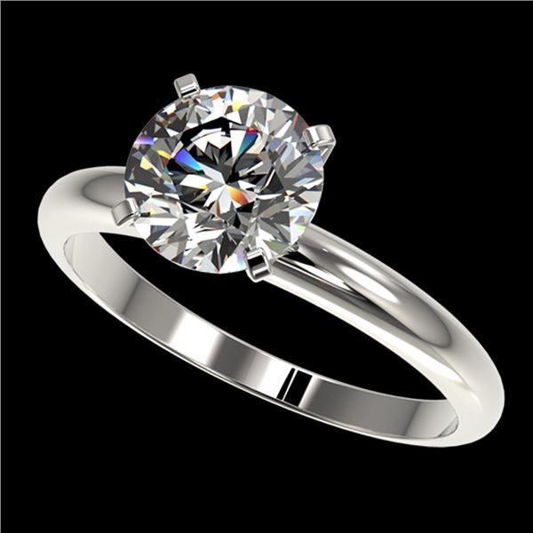 2.03 ctw Certified Quality Diamond Engagment Ring 10k White Gold - REF-407G8W