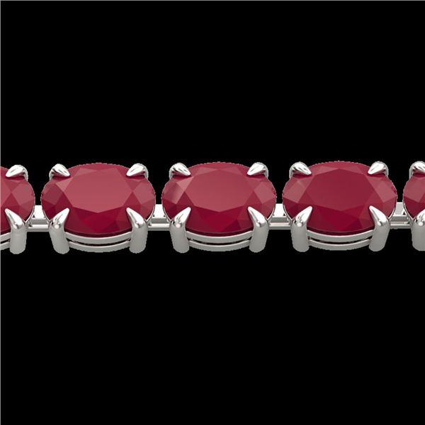29 ctw Ruby Eternity Designer Bracelet 14k White Gold - REF-180K2Y