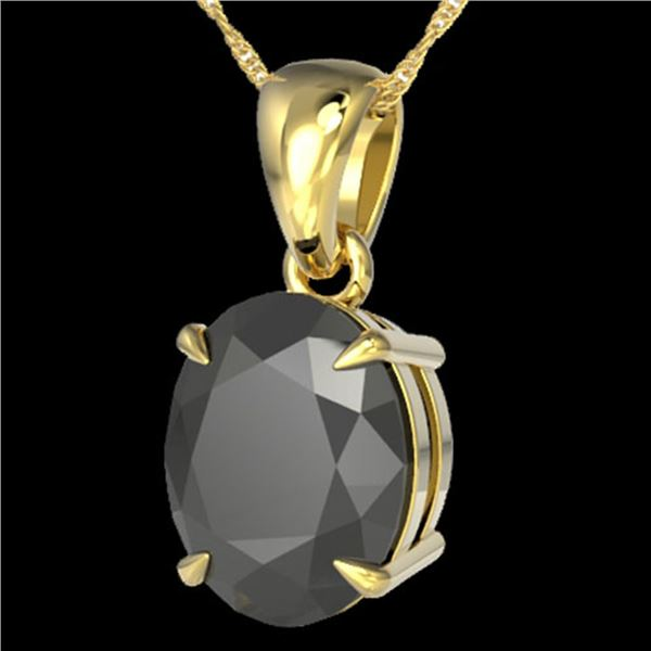 5 ctw Black Diamond Certified Designer Necklace 18k Yellow Gold - REF-161F8M
