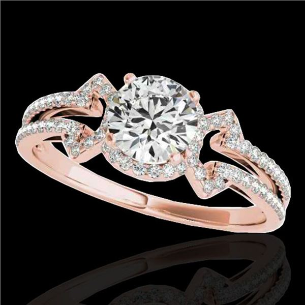 1.36 ctw Certified Diamond Solitaire Ring 10k Rose Gold - REF-204F5M