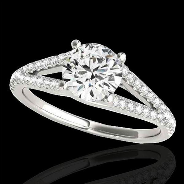 1.75 ctw Certified Diamond Solitaire Ring 10k White Gold - REF-354N5F