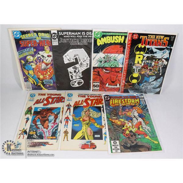 7 VINTAGE ASSTD DC COMICS