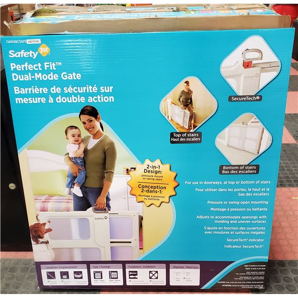 NEW SAFETY 1ST PERFECT FIT CHILD / PET GATE