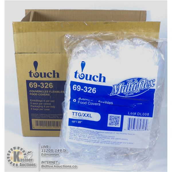CASE TOUCH COUVERCLES FLEXIBLES FOOD COVERS