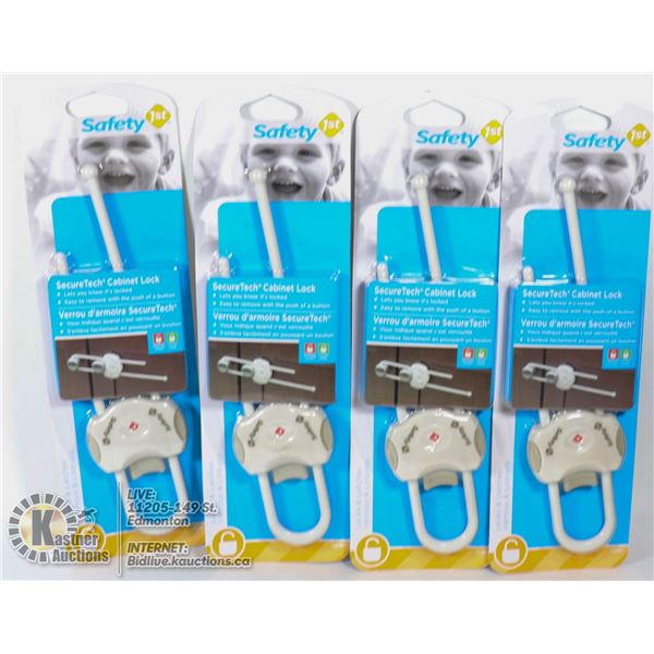 NEW CASE OF 4 SAFETY 1ST SECURE TECH CABINET LOCK