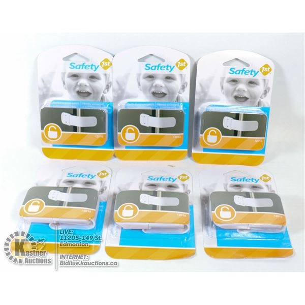 NEW CASE OF 6 SAFETY 1ST  MULTI-PURPOSE LATCH