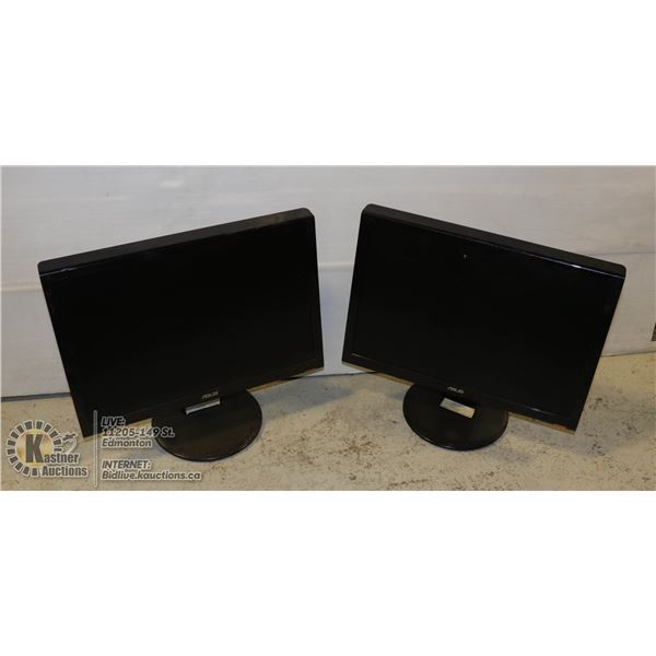 "WORKING-PAIR OF ASUS 19"" LCD COMPUTER MONITORS"