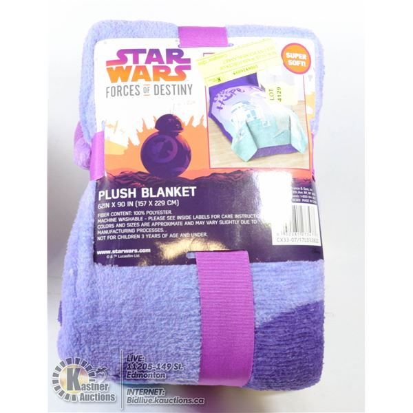 NEW STAR WARS FORCES OF DESTINY PLUSH BLANKET