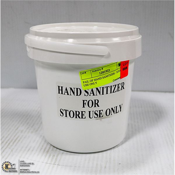 PAIL OF HAND SANITIZER - STORE USE ONLY
