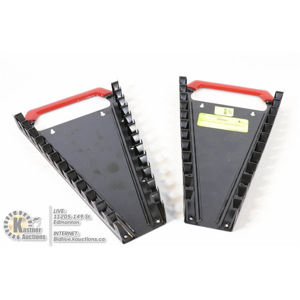A SET OF WRENCH ORGANIZERS (2)