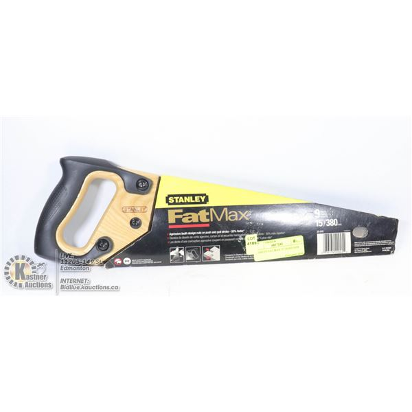 """STANLEY FAT MAX 15"""" HAND SAW"""