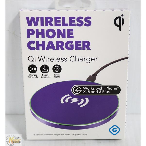 NEW GEMS WIRELESS QI PHONE CHARGER