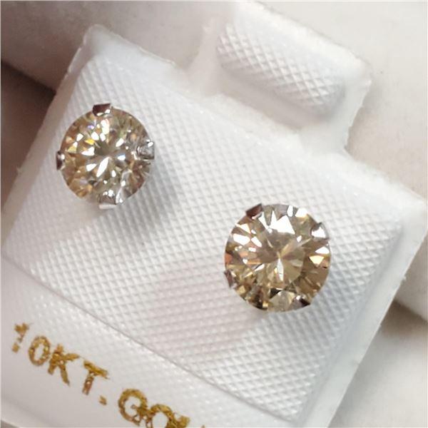 10K WHITE GOLD MOISSANITE(1.5CT)  EARRINGS
