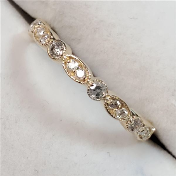 10K YELLOW GOLD DIAMOND(0.25CT,I1-I2,G-H)  RING