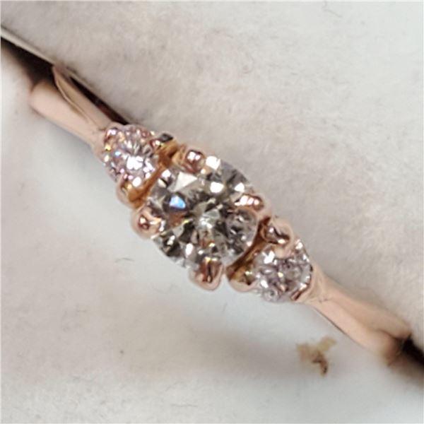 10K ROSE GOLD DIAMOND(0.3CT,I1,I) DIAMOND