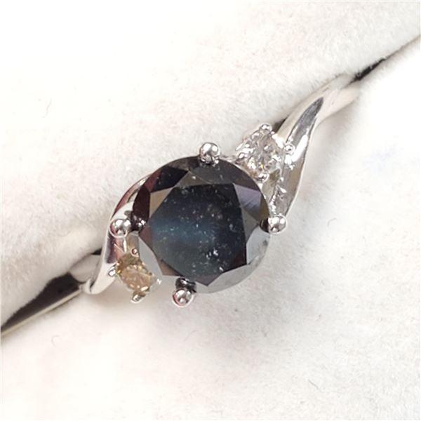 10K WHITE GOLD FANCY BLACK DIAMOND(1.9CT)