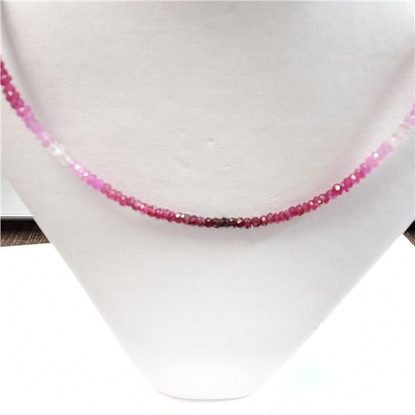 """SILVER RUBY(25.74CT)  NECKLACE (~LENGTH 16""""INCHES"""