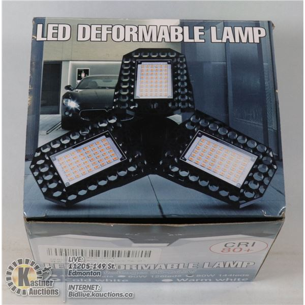 LED DEFORMABLE LAMP WITH DIAMOND MULTI LATERAL
