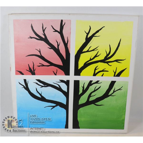 MULTICOLOUR TREE PAINTING ON CANVAS