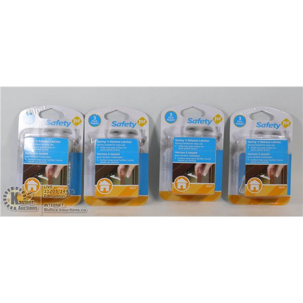CASE OF 4 NEW SAFETY 1ST SPRING N RELEASE LATCHES