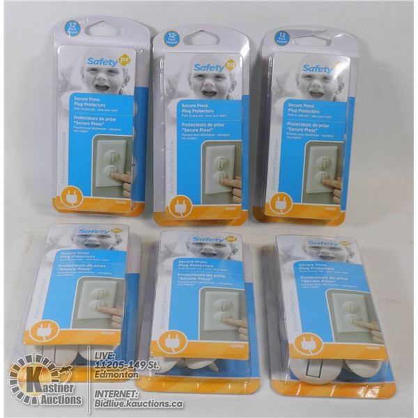CASE OF 6 PACKS OF NEW SAFETY FIRST PLUG PROTECTOR