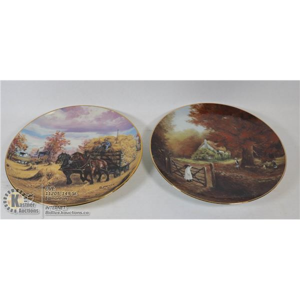 COLLECTOR PLATES-HARVEST GOLD/AUTUMN GRANDEUR