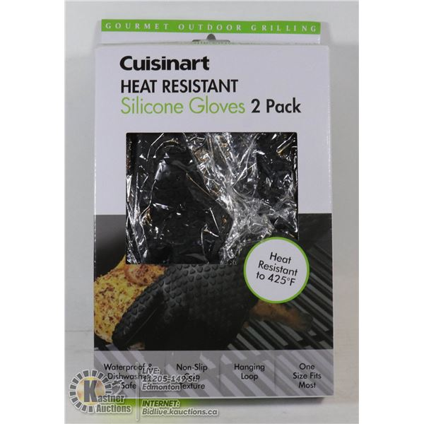NEW CUISINART HEAT RESISTANT SILICONE GLOVE 2PACK