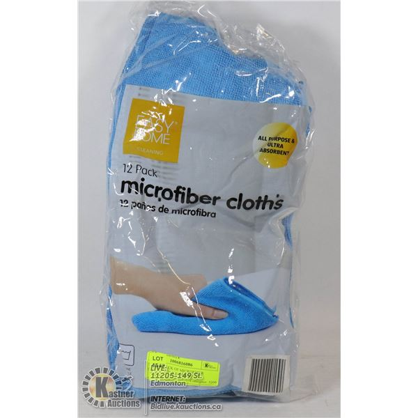 """NEW 12 PACK OF MICROFIBER CLOTHS -14"""" X 14"""" EACH"""