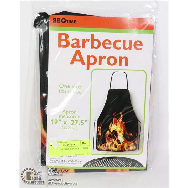 NEW FLAME THEME BBQ/ KITCHEN APRON