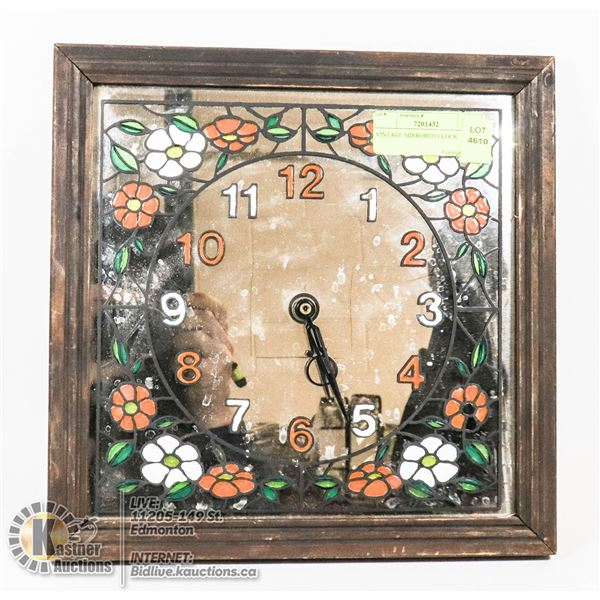 VINTAGE MIRRORED CLOCK