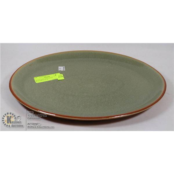 """DENBY ENGLAND GREEN PLATTER-11""""X 14"""""""