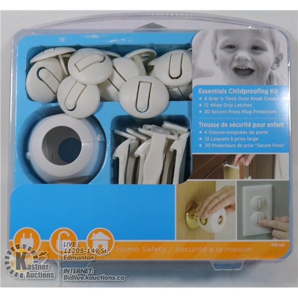 ESSENTIALS CHILDPROOFING KIT INCLUDES 46 PCS