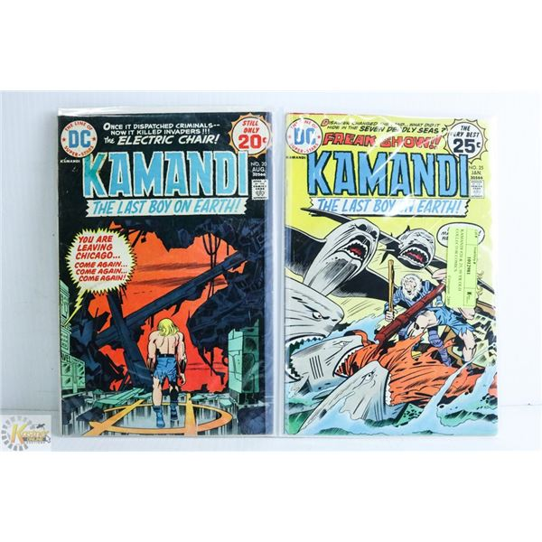 KAMANDI #20 & 25; 50 YR OLD COLLECTOR COMICS
