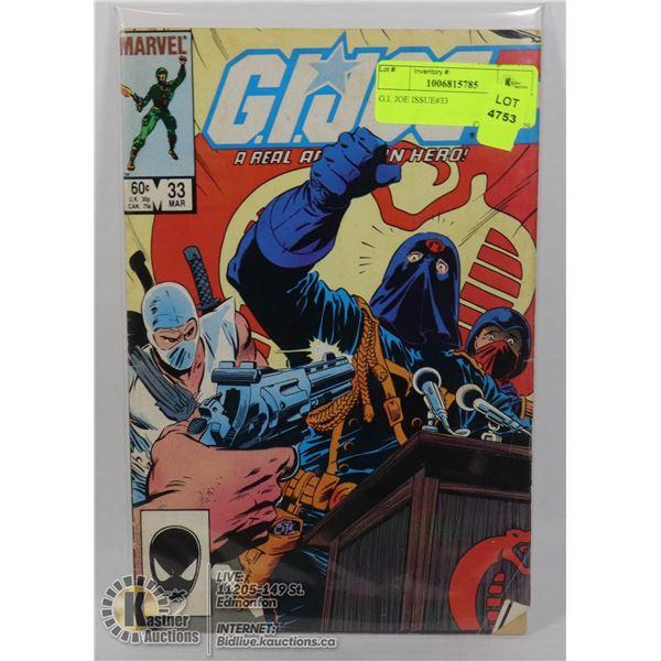 G.I. JOE ISSUE#33