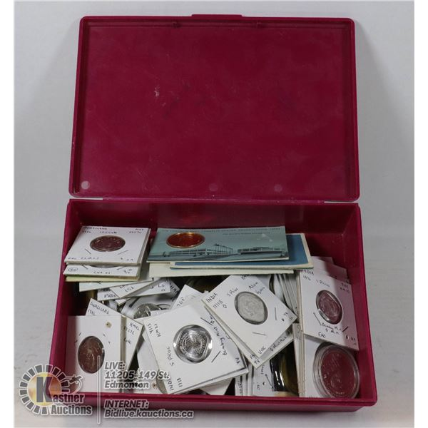 LARGE ESTATE LOT OF MIXED COINS AND TOKENS
