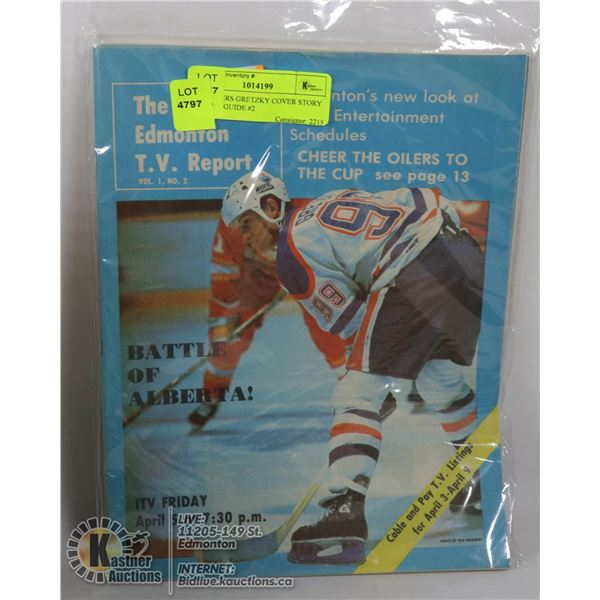 5 X OILERS GRETZKY COVER STORY 1985 TV GUIDE #2