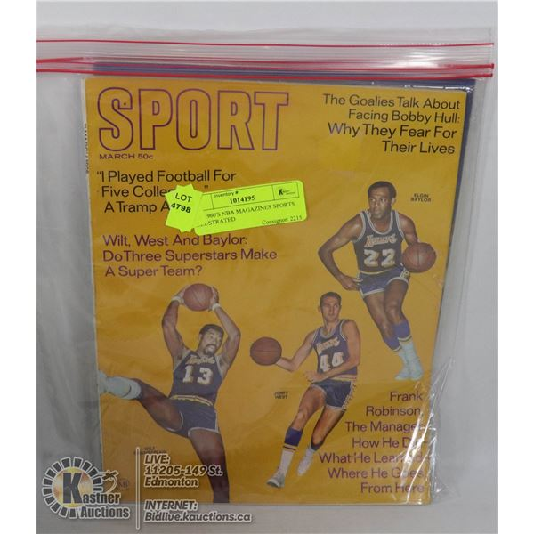 2 X 1960'S NBA MAGAZINES SPORTS ILLUSTRATED