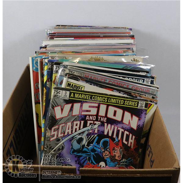 COMICS BOX - OVER 100 MARVEL DC MISC COMIC BOOKS