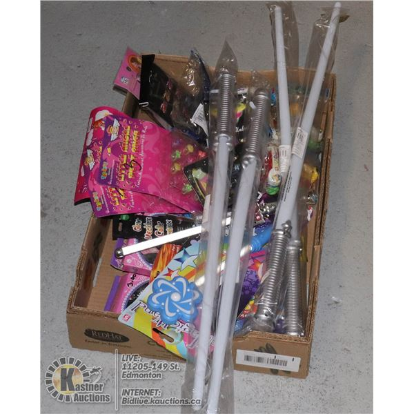LARGE FLAT OF ASSORTED KIDS TOYS