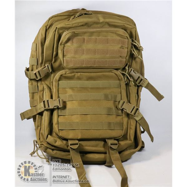 NEW CANVAS 3 SECTION KHAKI COLOR BACKPACK