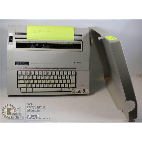 SMITH CORONA XL 1500 ELECTRONIC TYPEWRITER