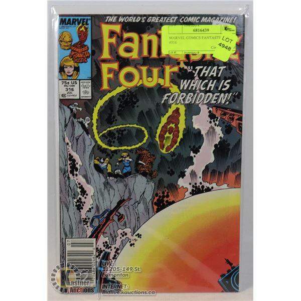 MARVEL COMICS FANTASTIC FOUR #316