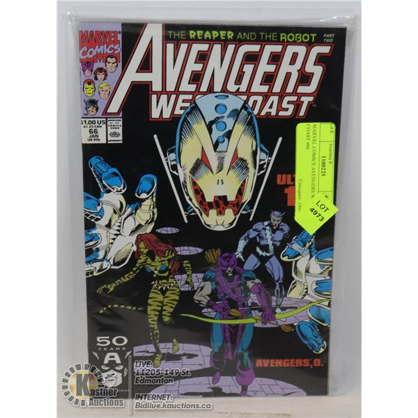 MARVEL COMICS AVENGERS WEST COAST #66